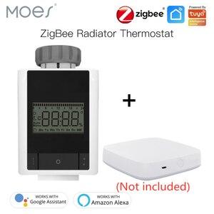 Умный термостат Tuya ZigBee 3,0, Нагреватель TRV, термостатический клапан радиатора с голосовым управлением, работает с Alexa Google Home Smart Life