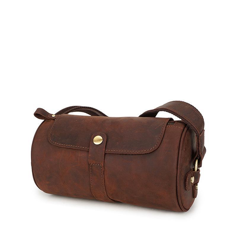 Мужская сумка через плечо В Стиле Ретро crazy horse, кожаная мужская сумка из воловьей кожи, кожаная мужская сумка через плечо, дорожная сумка, ко...