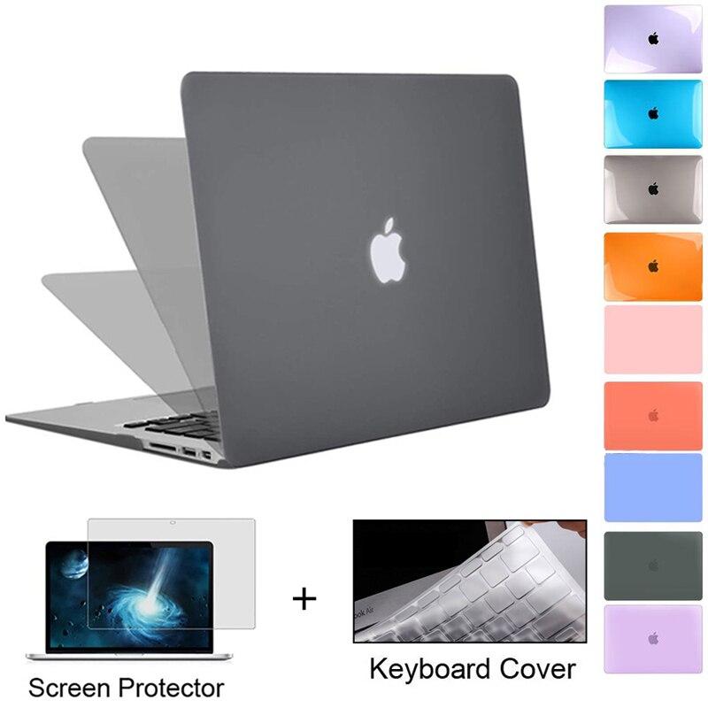 Case para Apple Case para 2021 A2337 + Presente Novo Cristal Matte Macbook ar Pro Retina m1 Chip 11 12 13 Polegada Pro13 A2289 A2179 A2338 –