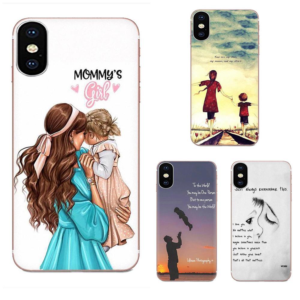 Famille garçon fille maman papa pour Huawei Honor Mate 7 7A 8 9 10 20 V8 V9 V10 V30 P40 G Lite Play Mini Pro P Smart doux sacs en TPU étuis