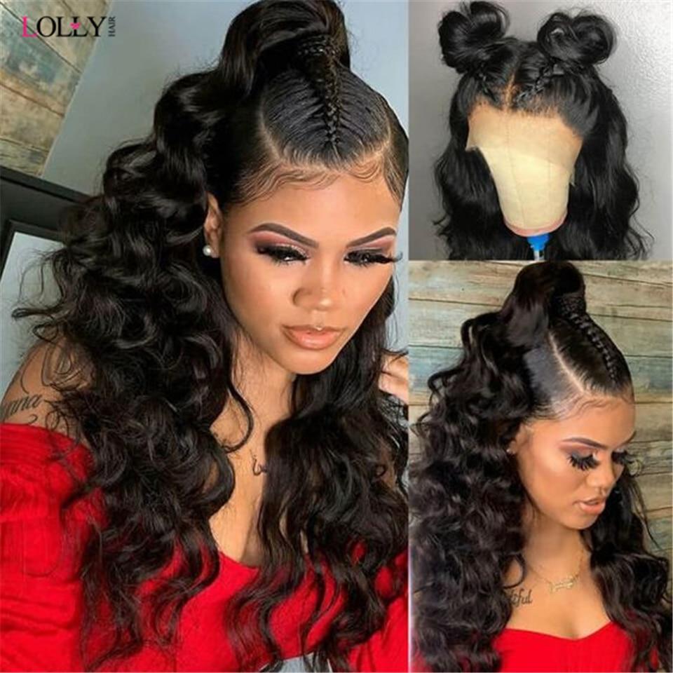 Парик на шнурках 13x6, прозрачный, бразильские человеческие волосы, предварительно выщипанные, передний, al, для чернокожих женщин, парик на шн...