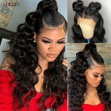 13x6 Loose Wave Transparent Lace Front Wig Brazilian Human Hair Wigs Pre Plucked Lace Frontal Wig Fo