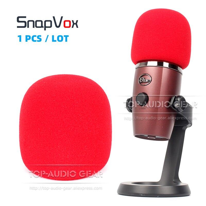 Para BLUE YETI NANO Mic parabrisas cubierta de micrófono a prueba de viento para filtro Pop parabrisas espuma esponja a prueba de polvo Color rojo pantalla