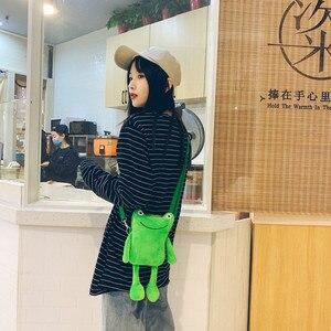 Shoulder Bag Plush  Animal Crossbody Bags Women Fashion Winter Soft Purse Cartoon Handbags Phone Money Storage