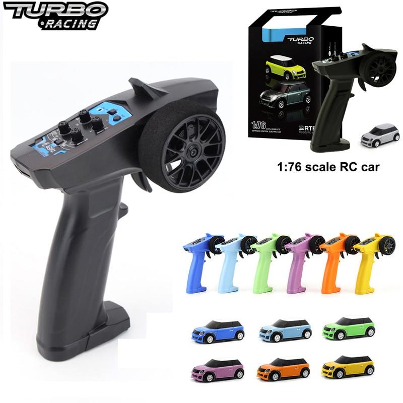 Turbo Racing 1:76-سيارة كهربائية صغيرة مع جهاز تحكم عن بعد ، 2.4 جيجا هرتز ، سيارة سباق مع تجربة سباق ، بيع بالجملة