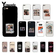 ATEEZ HongJoong لينة سيليكون أسود الهاتف حقيبة لهاتف أي فون 8 7 6 6S زائد X XS ماكس 5 5s SE XR غطاء آيفون 11pro ماكس