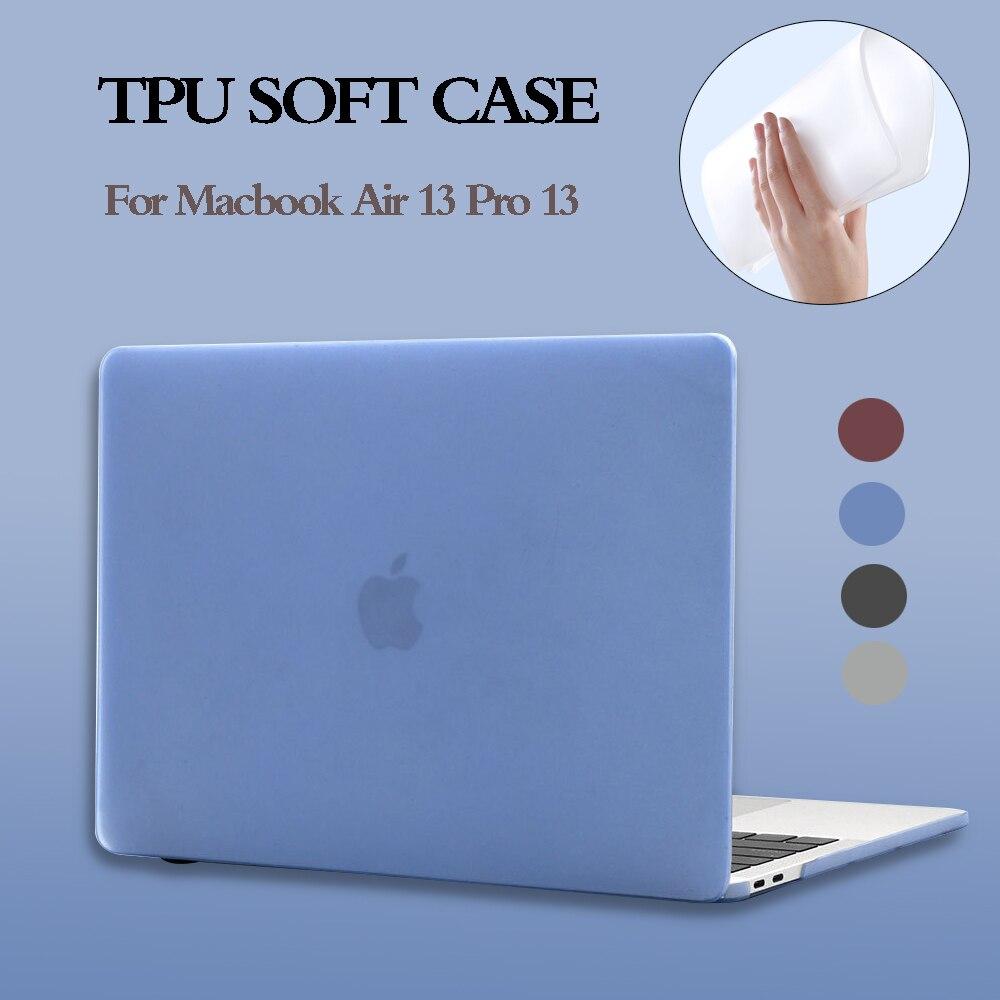 TPU suave funda de portátil para MacBook Air 13 caso nuevo 2020 A2179 A1932 ID táctil Pro 13 A2289 A2159 A1706 Pro 16 pulgadas A2141 2019 cubierta
