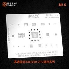 Mi 6 BGA pochoir universel   Pour mi Note5/pro rouge et Xiao mi 6x/note3 SDM636/660 CPU 0.12mm