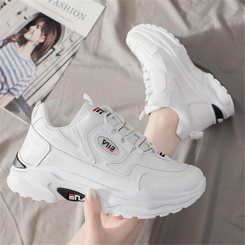 Zapatillas deportivas de plataforma plana para Mujer, Tenis femeninos informales, planos, transpirables,...