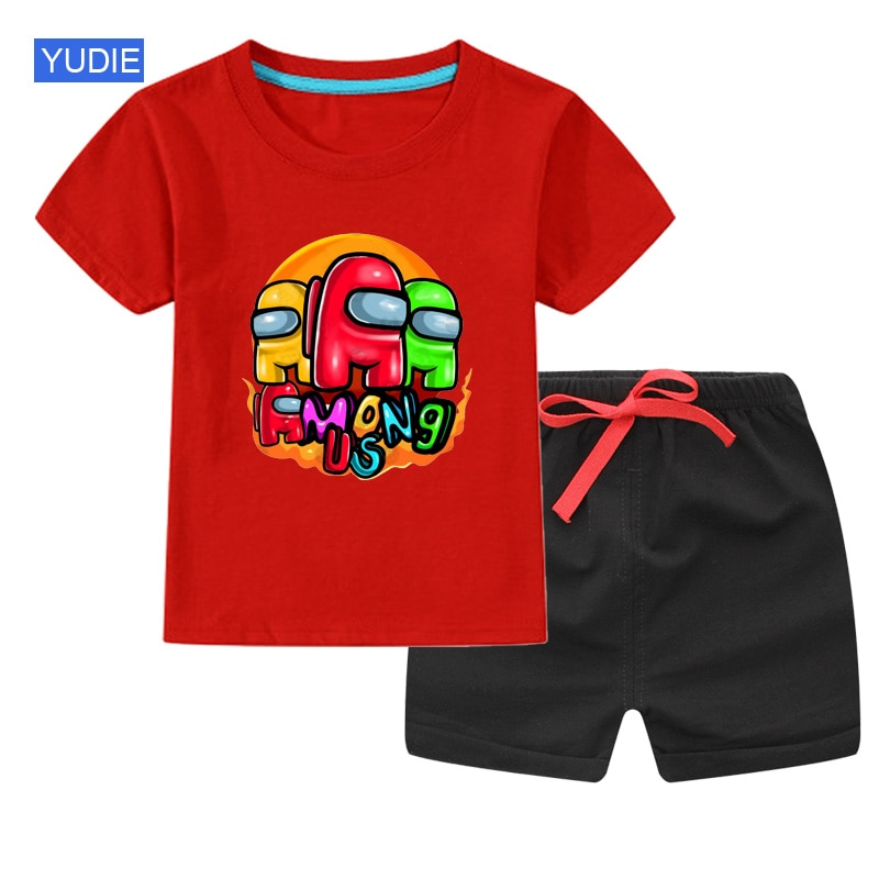 Kids t shirt Set Clothing Summer 2021 New Toddler Baby Boy Clothes kids baby Short Sleeve Sets Girl Clothes Children Outfit Suit