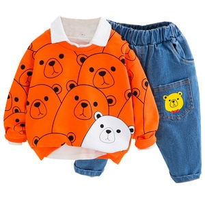 Boys spring clothes 2021 new baby clothes spring and autumn children's clothes spring baby sweater suit
