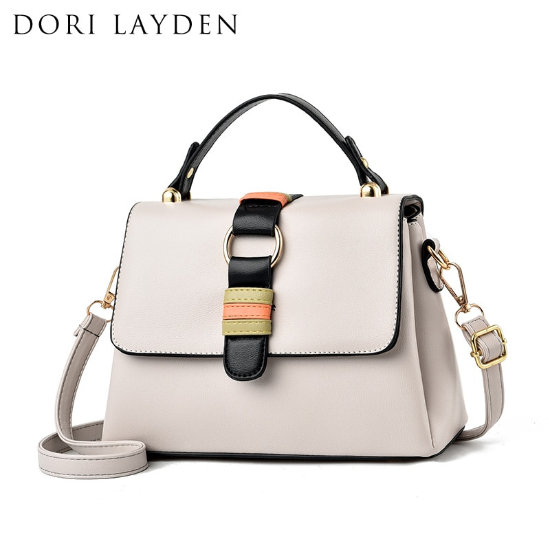 DORI LAYDEN 3 Layers Big Capacity Women Bags Leather Phone Purse Female Shoulder Bags Crossbody Girls Messenger Bags