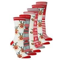 unisex christmas sock women casual cute cartoon thickness stockings sleeping funny socks mujer new year 2021
