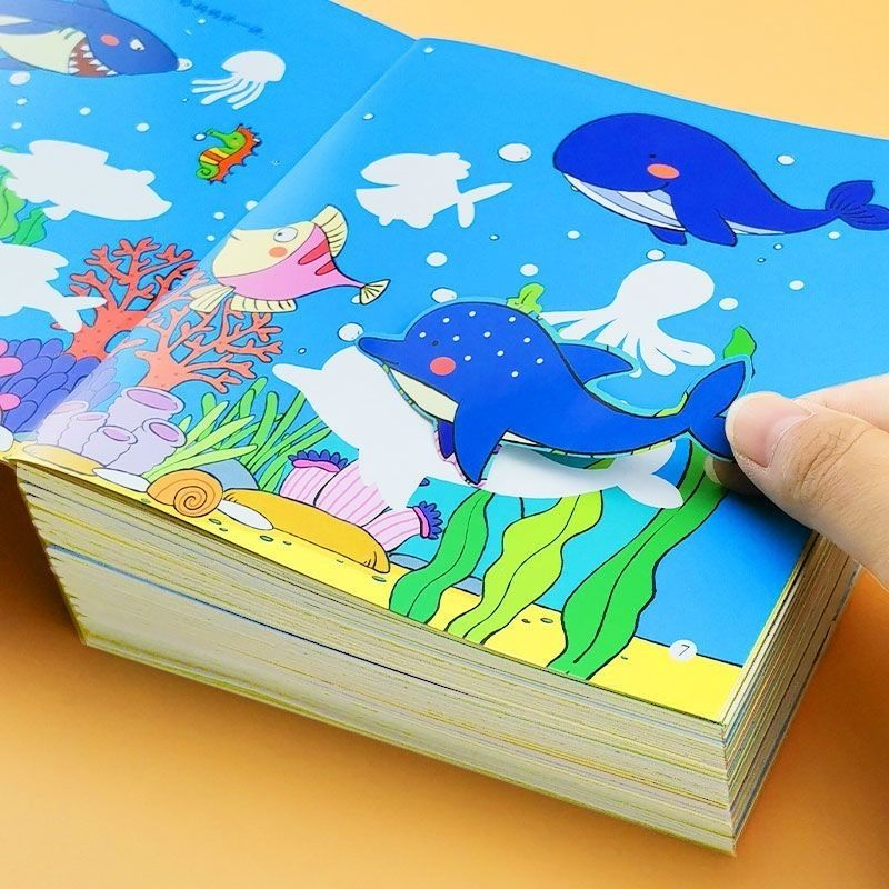 3200 Sheets Cute Anime Stickers Children's Concentration Training Sticker Book All 18 Volumes Baby Student Stickers Child Books