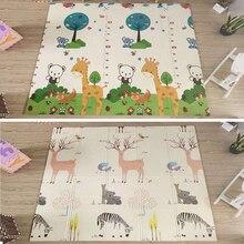 200*180*1cm dépaisseur XPE pliable dessin animé bébé tapis de jeu tapis pour enfants bébé tapis descalade enfants tapis bébé jeux tapis jouets pour enfants