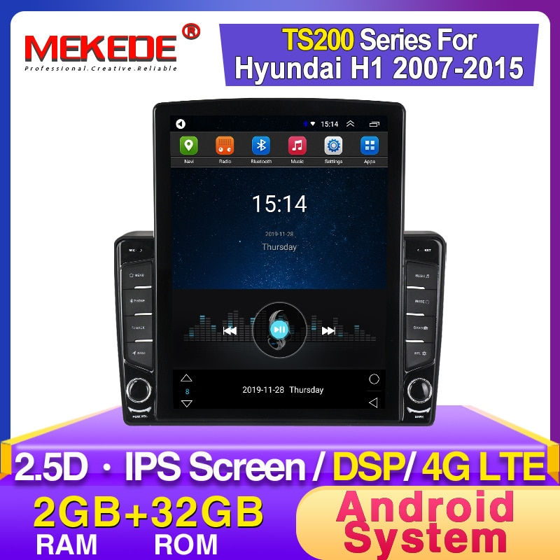 "Mekede 4g lte 9.7 ""reprodutor de dvd dos multimédios do carro de tesla da tela android para o grande starex 2007-2015 do rádio de hyundai h1 wifi de áudio gps"