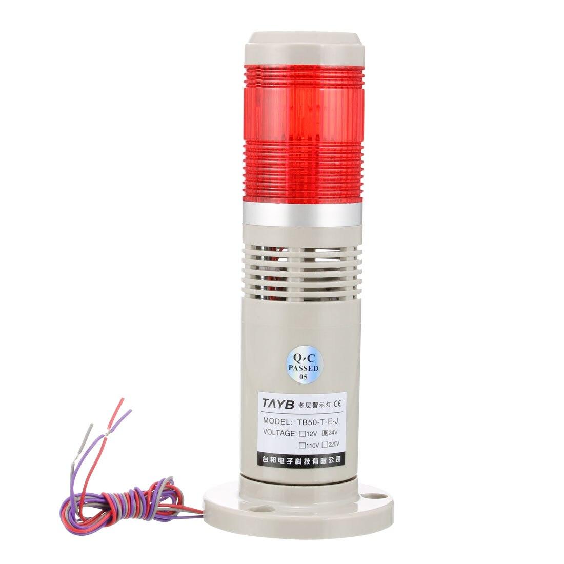 Uxcell luz de advertência brilhante sinal industrial torre alarme lâmpada buzzer som 90db TB50-1T-E-J