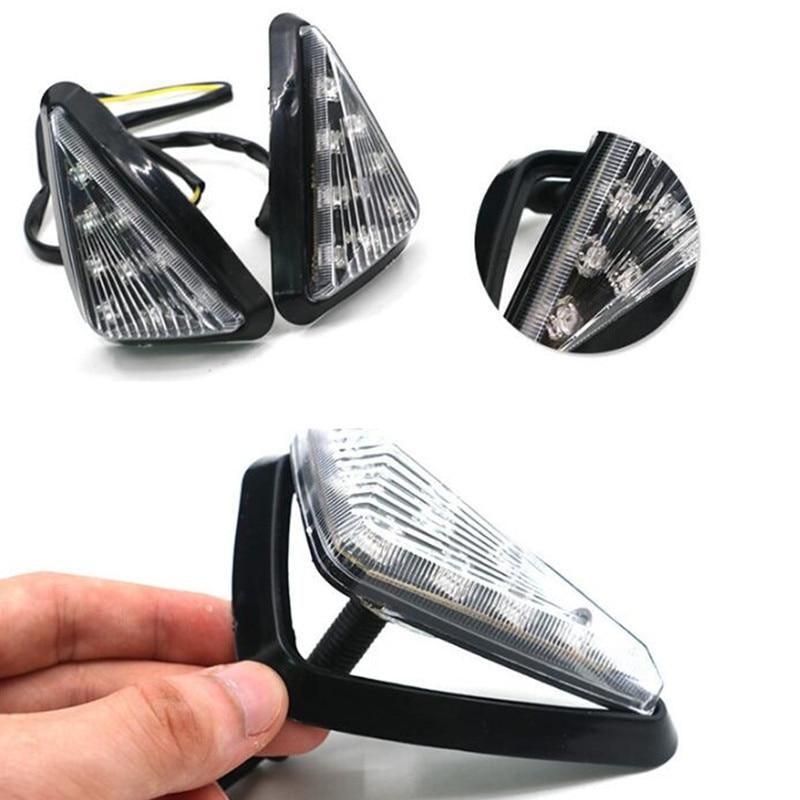 Luz de giro Adeeing para motocicleta triángulo de humo montaje empotrado LED impermeable Fácil instalación intermitentes señales r20