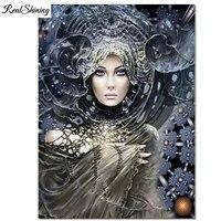 Lattrait femme diamant broderie photo Personnalisee  diamant peinture vente 5 d bricolage plein carre rond exercices maison art F1114