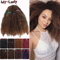 my lady marley braids synthetic twists afro kinky bulk hair hair extensions 11inch black crochet braids african american style