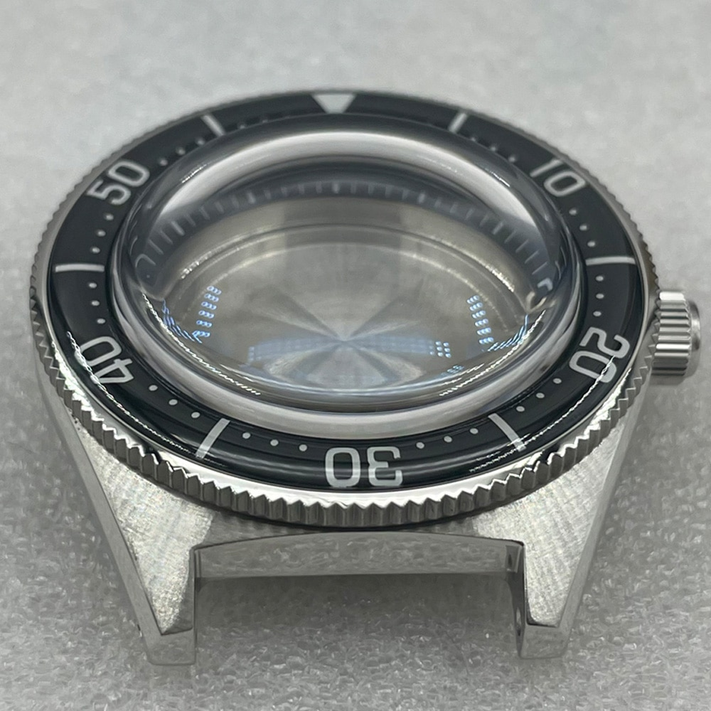 Watch Parts High Quality 62MAS Stainless Watch Case Sapphire Bubble Glass Full Luminous Sapphire Bezel Fit NH35/36 Movement enlarge