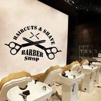 Autocollant dart mural pour salon de coiffure  livraison gratuite  decoration de mode pour chambres de bebe  decor de maison