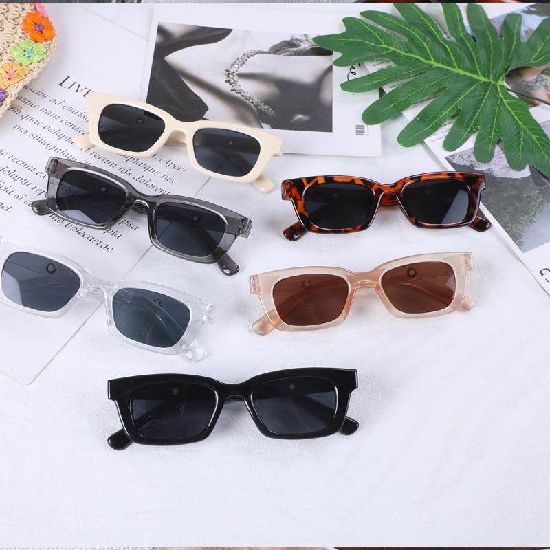2021 Women Small Rectangle Vintage Sunglasses Brand Designer Retro Points Glasses Lady Square Eyeglasses Shades Female oculos