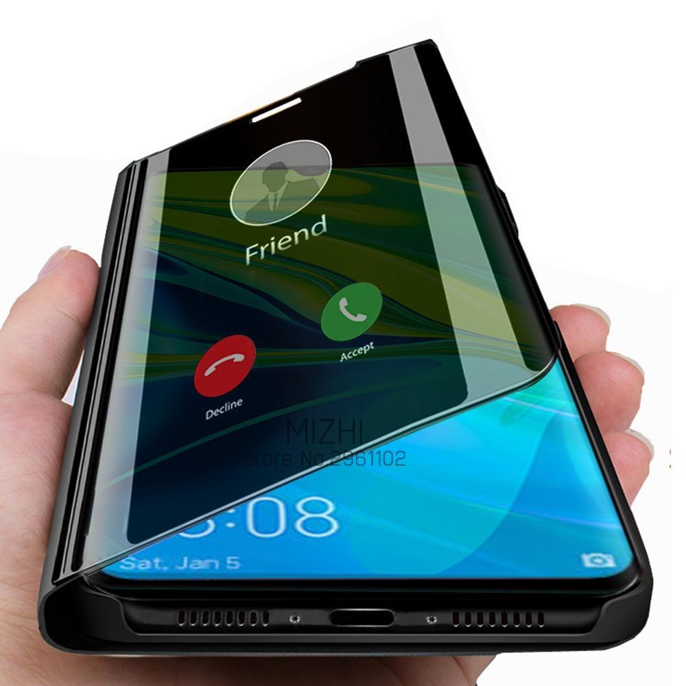 Funda funda de teléfono para xiaomi mi 9 9t pro mi9 lite a3 note 10, cc9 pro con espejo inteligente, funda transparente y 9 lite note 10 9tpro cc9pro