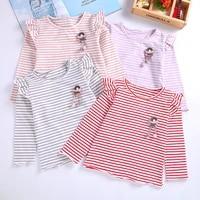 spring autumn girls t shirt cotton tops for kids cartoon children shirts long sleeve baby blouse toddler bottom clothing