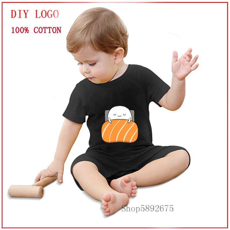 Latest popularity Sleepy sushi 100% Pure Cotton Baby Romper Summer Short Sleeved cozy and Breathable