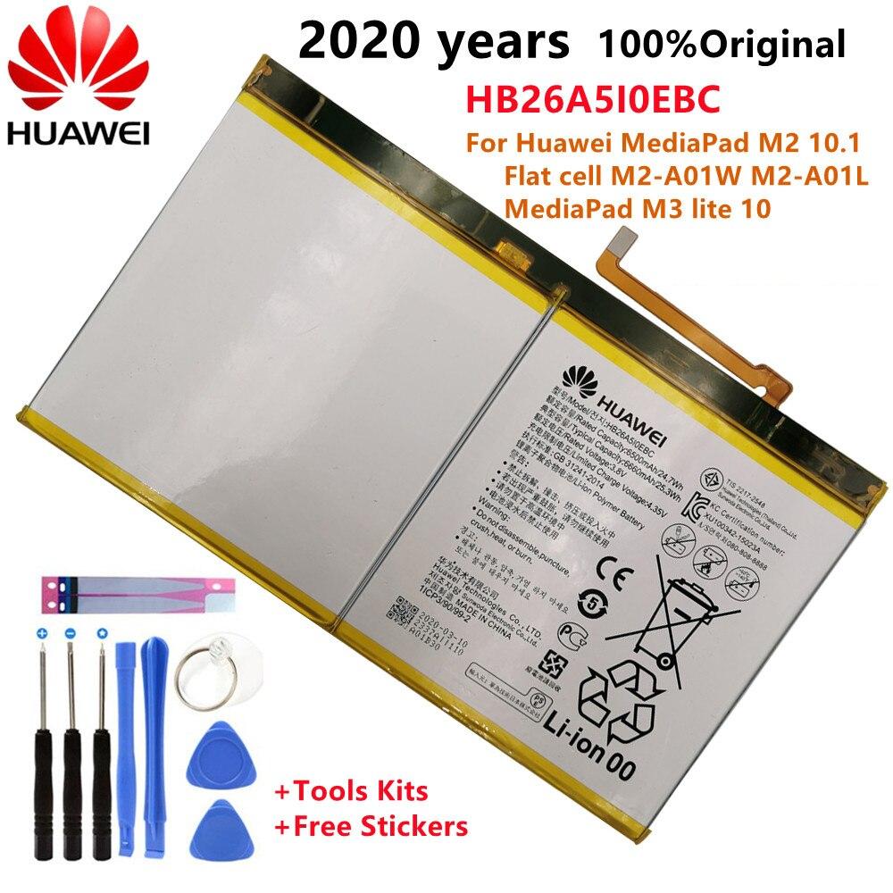 Originele Vervangende Batterij HB26A5I0EBC Voor Huawei Mediapad M2 10.1 Platte Mobiele M2-A01W M2-A01L Mediapad M3 Lite 6660Mah
