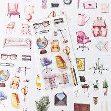 Pegatinas de papel para muebles de oficina, adhesivo decorativo para pegar y sellar, 6 hojas por paquete