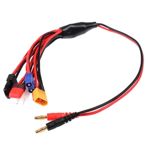 8 In 1 Charger 4.0mm Banana Adapter Connector Splitter Cable for TRX