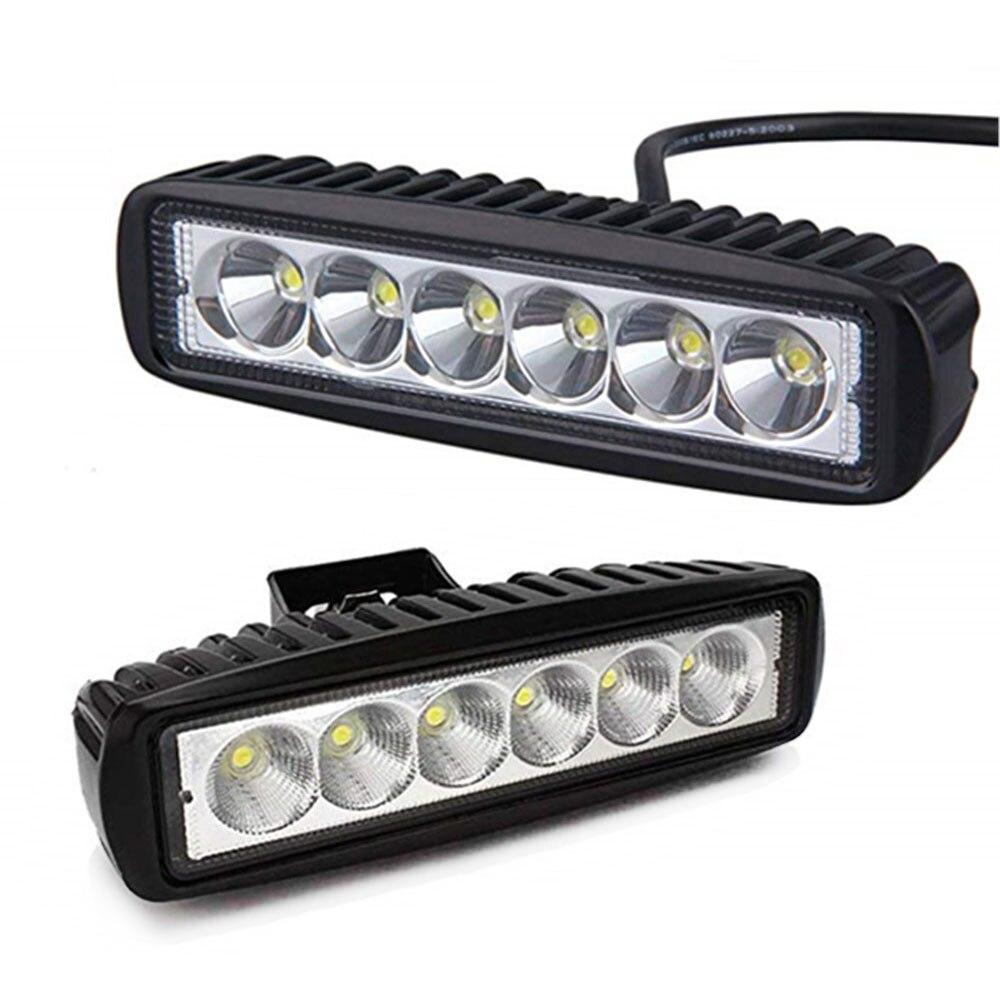 6LED 18W Work Light Car 12V LED Spotlight Work Light Bar 6500K Square for car Auto Truck Lorry Trailer SUV Mini Spot Fog Lamp