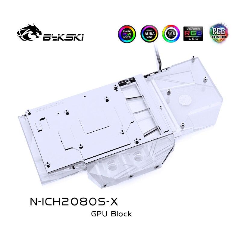 BYKSKI bloque de agua uso para inno3D Geforce RTX2080 Super/RTX2070 Super apoyo A-RGB/luz LED RGB bloque para radiador de cobre + Acrílico