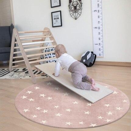 سجادة الأطفال غرفة المعيشة غرفة نوم مستديرة سميكة عدم الانزلاق أريكة كرسي الزحف لينة الكلمة حصيرة