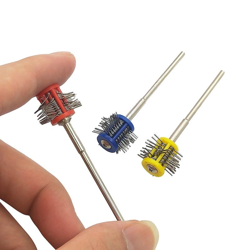 Profesional Pro-Texturing cepillos de pulido 1mm 2mm 3mm alambre montaje de joyería cepillo herramienta de fabricación de joyería herramientas T30 mango