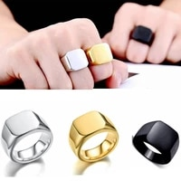 smooth unpatterned plain ring mens ring new fashion metal four colors ring accessories party jewelry size 6 12