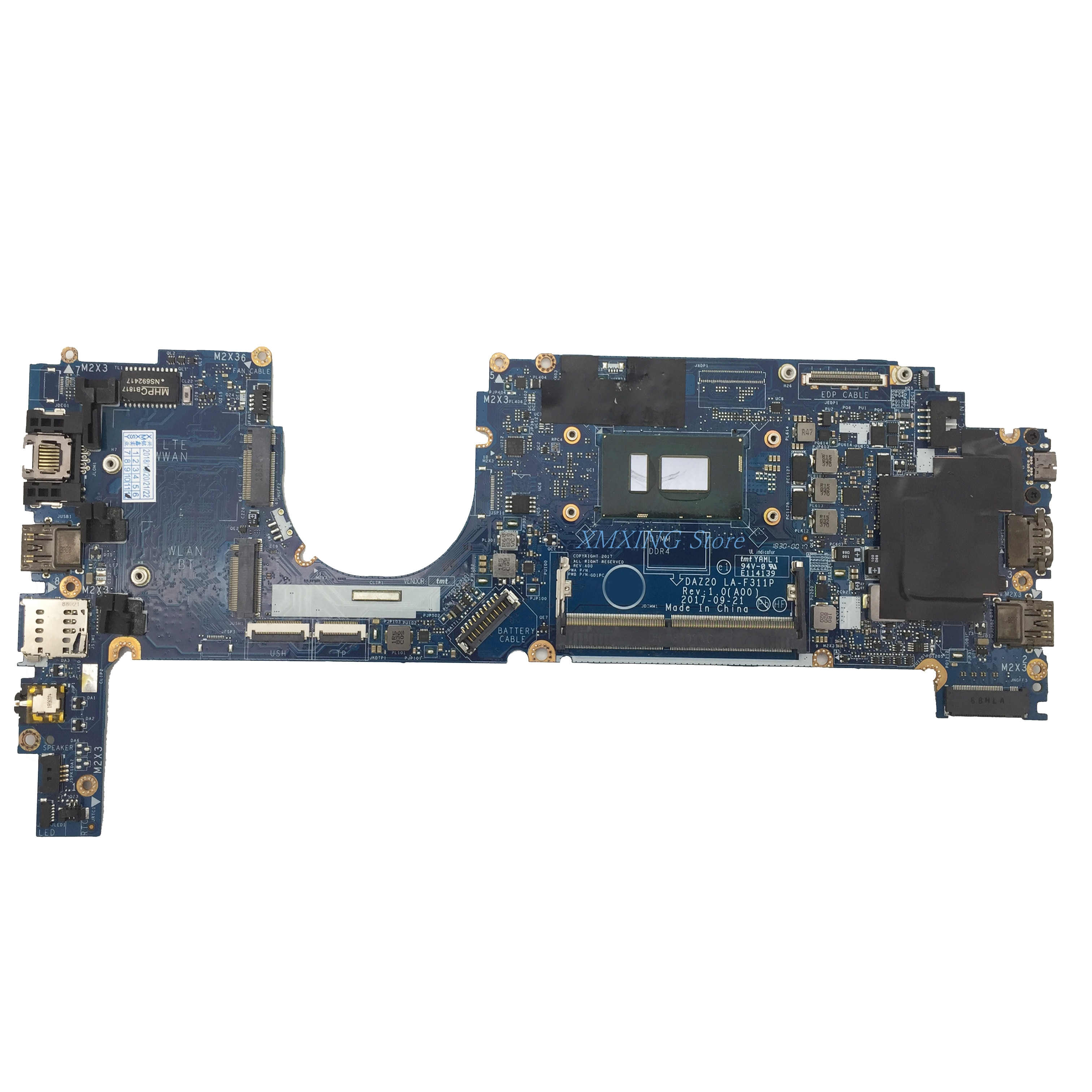 FULCOL لديل خط العرض 7290 7390 اللوحة المحمول I7-8650U CPU LA-F311P CN-0MXW44 0MXW44 MXW44 اختبار 100% العمل