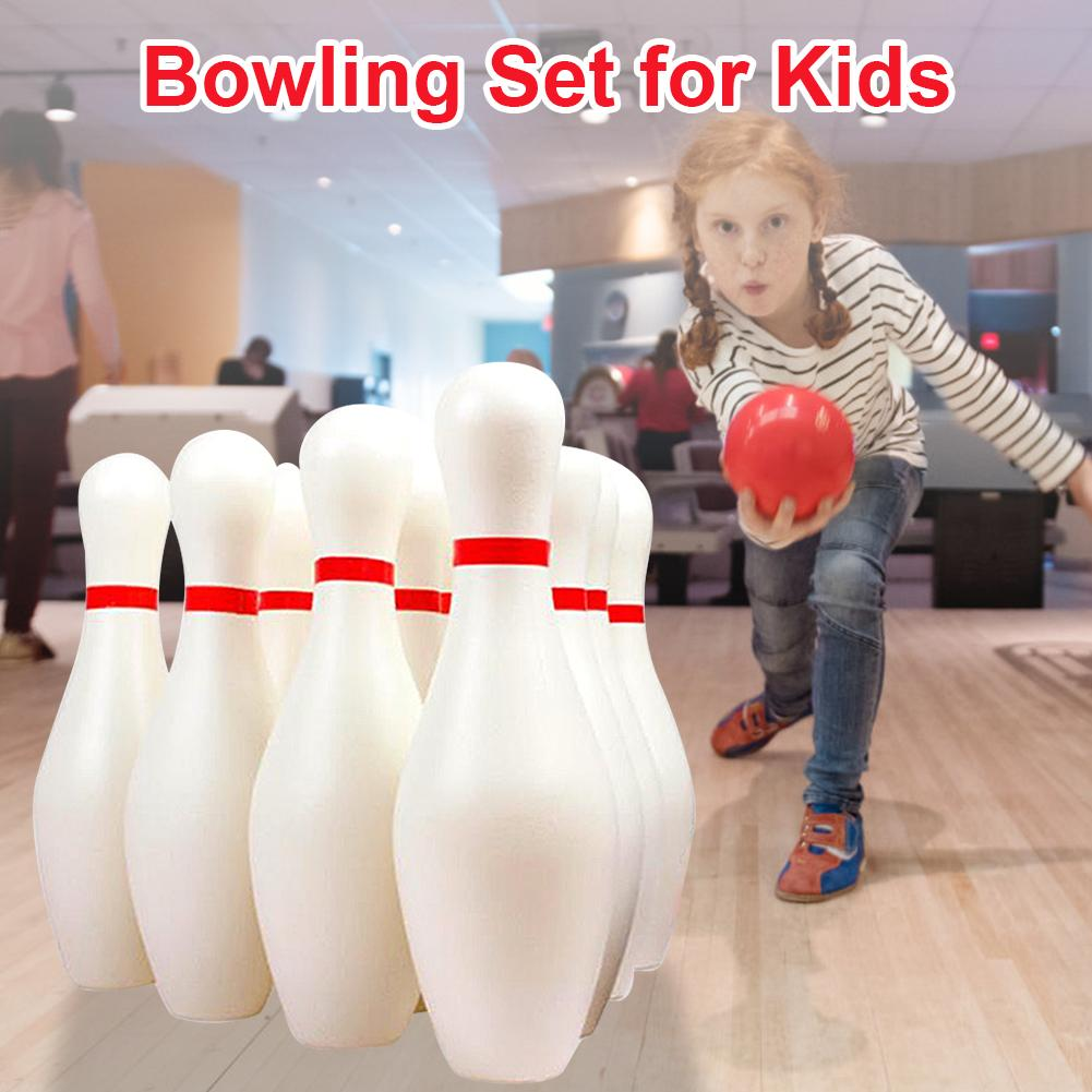 الاطفال البولينج مجموعة تشمل 10 دبابيس و 2 كرات الكمال البولينج مجموعة داخلي لعب صغيرة هدايا الأطفال التعليم المبكر