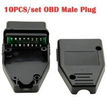 10 шт./лот диагностический инструмент для автомобиля OBD штекер 16Pin OBD2 разъем OBD 2 16 Pin OBD II адаптер OBDII J1962 замена разъема