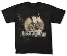 John Mellencamp In Your Town (Canada Tour) Black T Shirt New Cougar Tee Shirt printed Plus Size