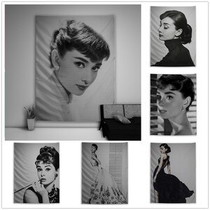 Audrey Hepburn Beauty Character Tapestry Art Wall Hanging Sofa Table Bed Cover Home Decor Poster