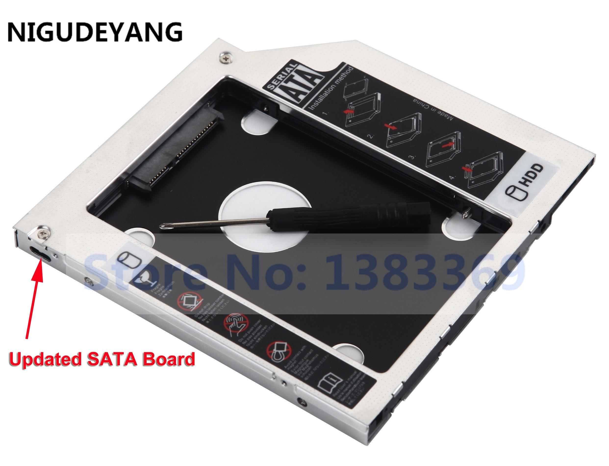 NIGUDEYANG 2ND HD SSD Festplatte SATA Caddy Adapter für Sony Vaio VPCS11X9E VPC-S11V9E AD-7930H DVD