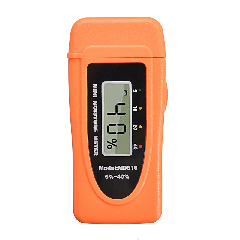 1Pc Digital Damp Moisture Tester Wood Brick Timber Plaster Sensor Meter Detector Wood Bamboo Cotton Tobacco Paper Timber