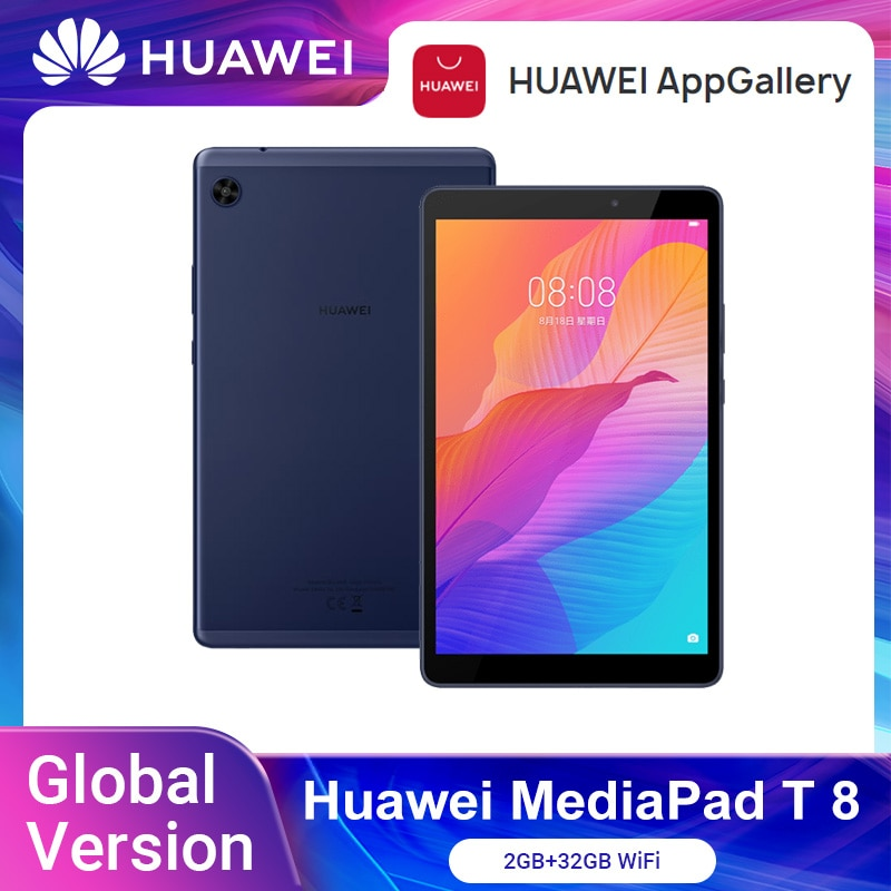 Global Version HUAWEI MatePad T8 2GB 32GB WIFI Tablet PC 8.0 inch faceunlock 5100mAh Support microSD Card Android10 T8 No Google