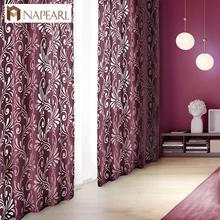 Prêt à lemploi semi-occultant rideaux panneau aveugle tissus pour fenêtre violet rideaux salon fenêtre traitement violet noir blanc