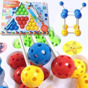 Colorful Balls Sticks DIY Building Blocks Construction Set Educational Kids Toy gift for children Children Christmas Gift