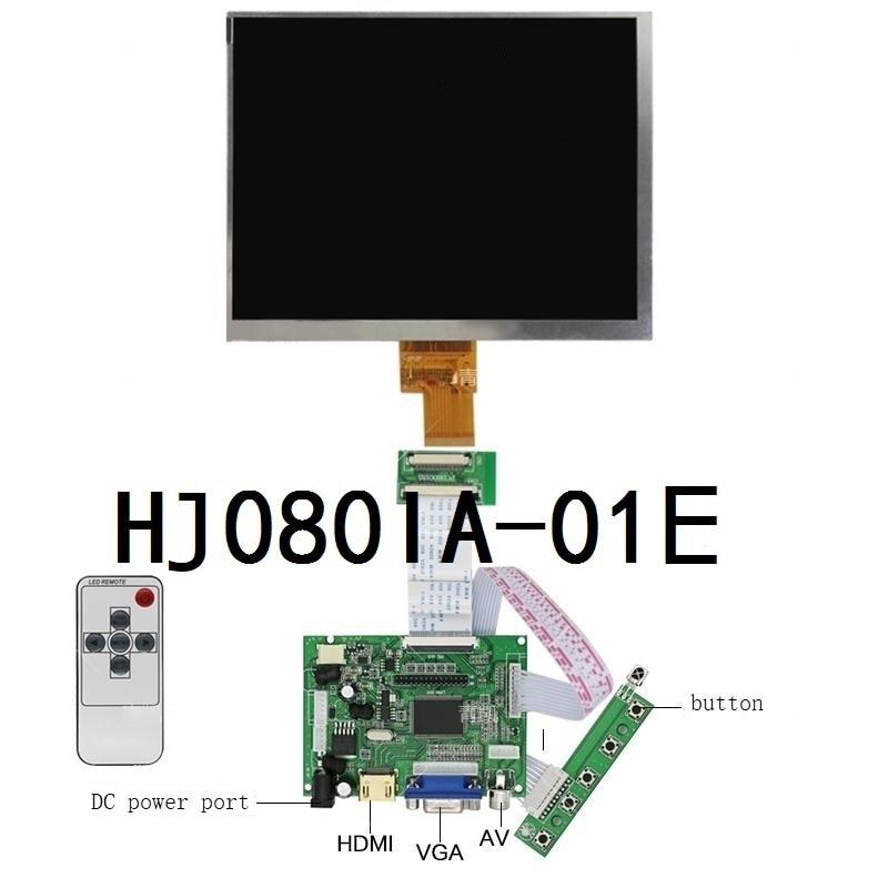Latumab 8 polegada ips 1024*768 tablet tela hd display lcd HJ080IA-01E HE080IA-01D placa motorista hdmi monitor de controle para framboesa