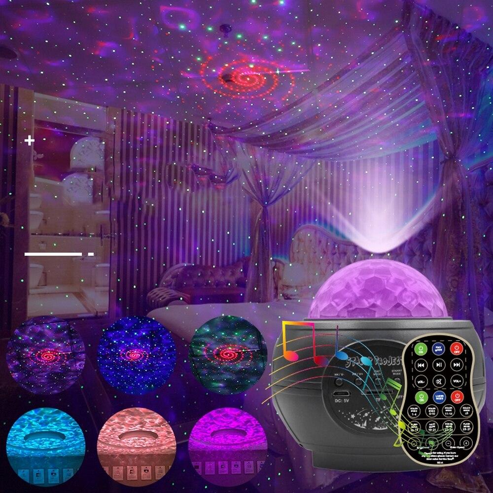 جهاز عرض Led دوار ، ضوء ليلي على شكل نجمة أو قمر أو نجمة ، إضاءة زخرفية داخلية ، مثالي لغرفة الطفل أو الطفل.